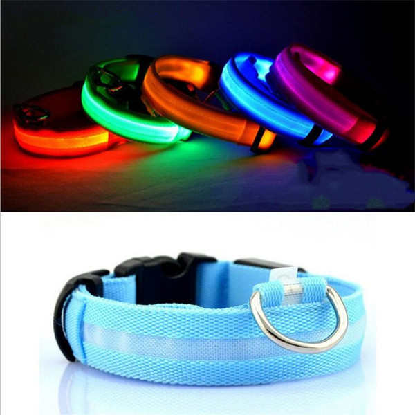 LED Dog Collar Glow Nylon for Dogs Puppy Cats Pet Large Adjustable Night Luminous Collar Pet Supplies Pet Shop Dog Acessories