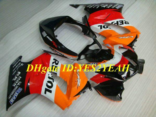 Мотоцикл обтекатель комплект для Honda VFR800RR 98 99 00 01 VFR 800 1998 2001 ABS красный оранжевый черный обтекатели набор + подарки HW04