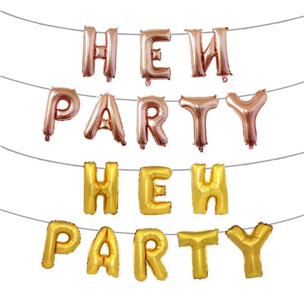 Fashion Hen Party Aluminum Foil Balloon English Letter Inflatable Helium Balloons For Party Wedding Decoration Airballoon Rose Gold 4 5hy BB