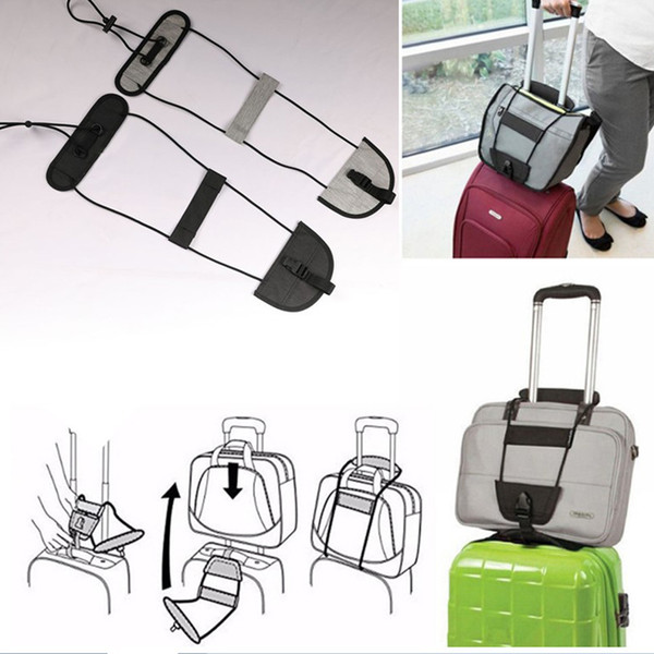 Bag Strap Travel Luggage Suitcase Adjustable Belt Carry On Bungee Easily Luggage Bag Strap Travel Accessories 2colors