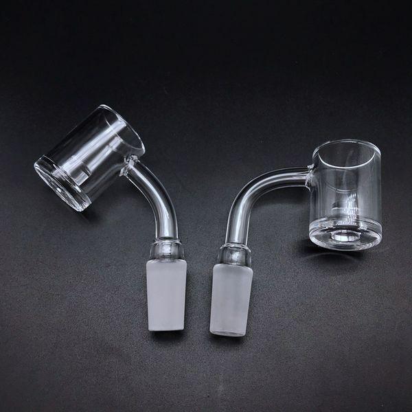2mm Wall 5mm Bottom Flat Top Quartz Banger With Core Reactor 10mm 14mm 18mm Quartz Banger Nails For Glass Bongs Glass Water Pipes