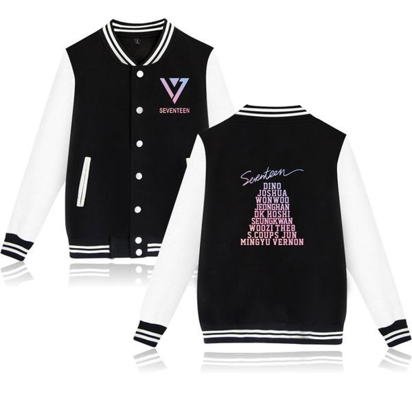 SEVENTEEN giacca da uomo felpa invernale da uomo coreano combinazione camicia da baseball SEVENTEEN