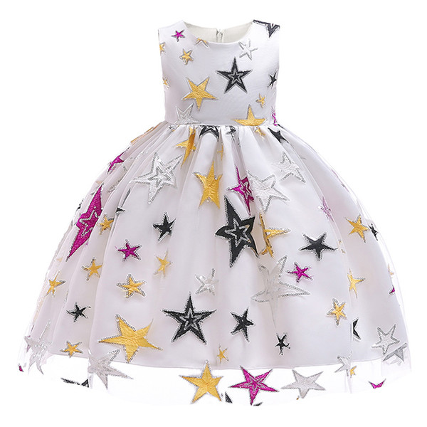 Baby girl party dress child princess sequin embroidery prom dress formal wedding birthday christmas children tutu clothing