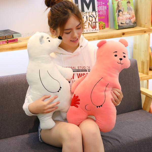 45CM Plush Polar Bear Sweet Cute Lovely Stuffed Baby Kids Toys for Girls Birthday Christmas Gift Cute Girl