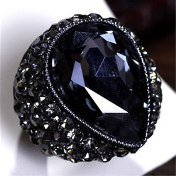 Fashion Exaggerated Vintage Style Pigeon Eggs Stretch Elastic Ring For Women Brand Jewelry Factory Wholesale