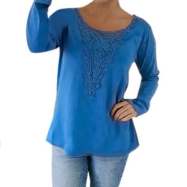 Autumn Women New T-Shirts Sexy Lace Long Sleeve Casual Leisure Shirts Tee Tops Women Clothing Female T Shirts basic tops