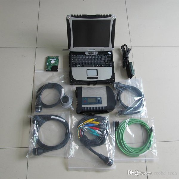 newest for mb star c4 sd with laptop cf19 rugged pc touch screen with 2019.03 hdd full set diagnostic tool for benz