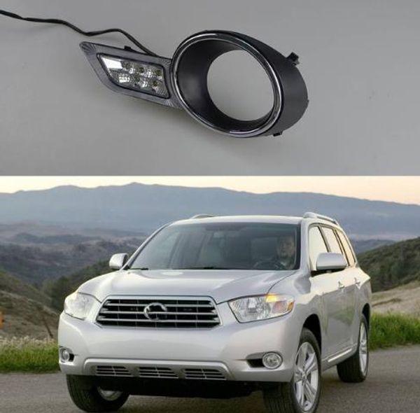 1Pair car daylight waterproof super bright LED DRL Daytime Running Lights for Toyota Highlander 2009 2010 2011