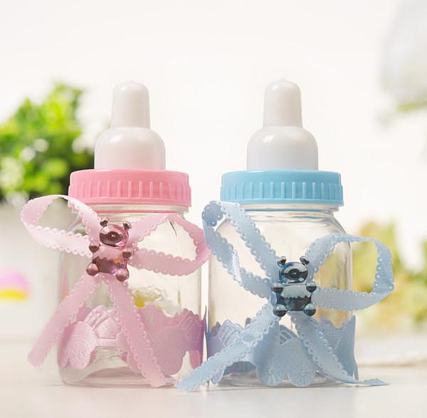 24 teile / los Babyflasche Pralinenschachtel Party Supplies Baby Babyflasche Hochzeit Gefälligkeiten Baby Shower Taufe Dekoration 9 * 4 cm