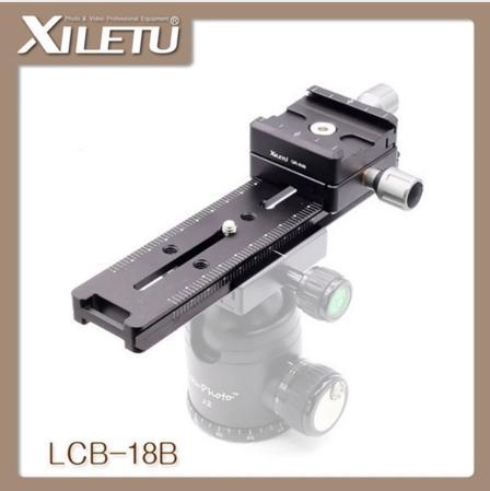 Q24810 XILETU LCB-18B Faixa Dolly Slider Focagem Foco Rail Slider Braçadeira e Placa QR Conheça Arca Suíço Para DSLR Camera Canon