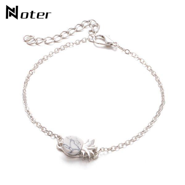 New Arrival Link Chian Bracelets For Women Girls Charm Gold Silver Color Metal Braslet Creative Pineapple Friendship Bracelets