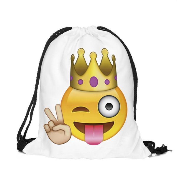 f5ed924264c4 Emoji Drawstring Backpack Bags Pack Of 39 33.5CM Assorted Emoticon Back To  School Bags