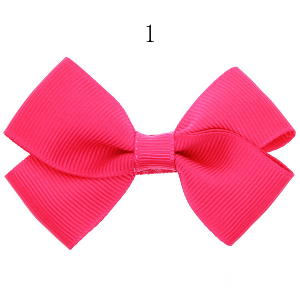 12pcs New Ribbon Bow clip Girl little hair top clips Dot solid Printed Bow Hairpin for Baby Children accessories for hair gift HC060-1