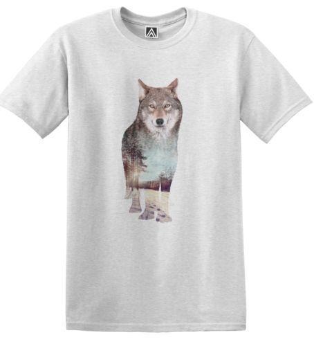 Kurt Doğa T-shirt Olumlu Vibes Hills Hayvan Kar Hipster Kış Forrest TeeClassic Kalite Yüksek t-shirt