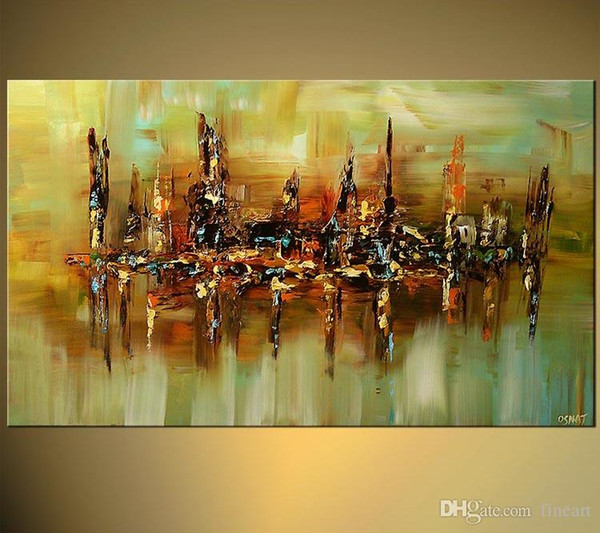 100% hand-painted high quality abstract canvas wall art color oil painting gallery canvas painting for home decoration