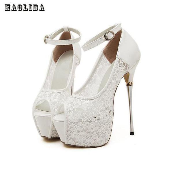 c91a7a6b6 Mulheres sandálias de verão bombas de renda das mulheres sexy sapatos de  festa sapatos de plataforma
