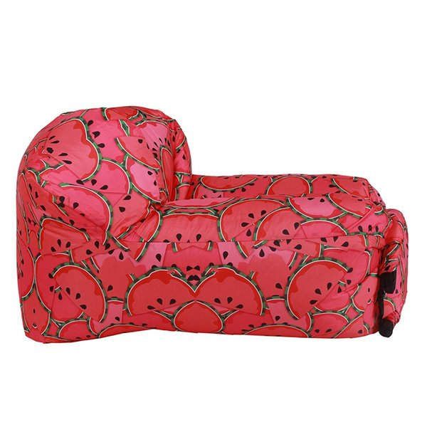 New Comfortable Lazy Inflatable Sofa Fight Color Inflatable Sofa Cushion Chair Watermelon Color Banana Hot