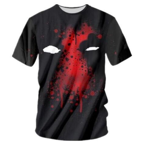 SondiraneNew Fashion 3D Print Deadpool Graphic T-Shirts Summer Short Sleeve Tee Shirt Design Crewneck Quick Dry Tops Comfortable Clothing