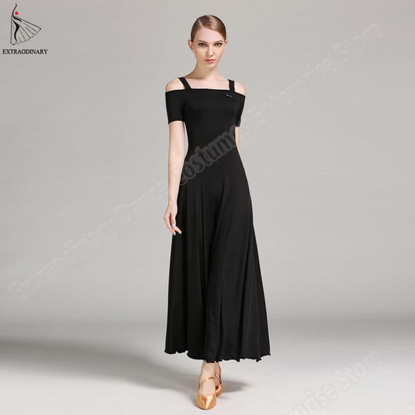 New Woman Modern Dance Dress Dancing Ballroom Performance Suit Long Sleeve Girl Standard Costume Competition Dress Ballroom