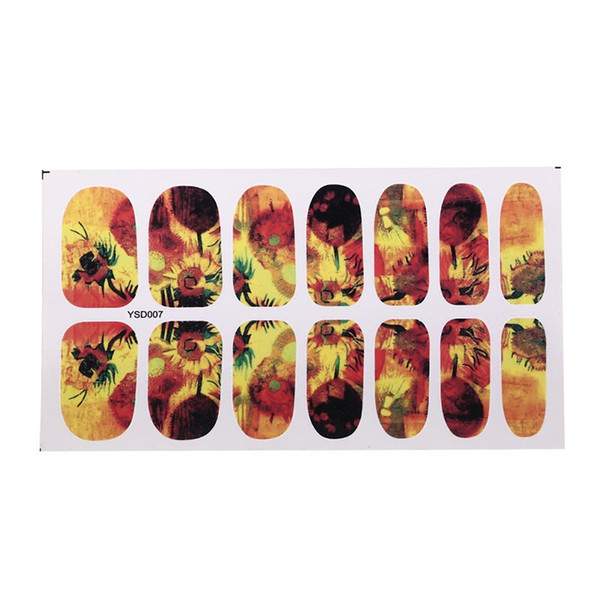 1 sheet Nail Art Sticker Fashion Full Cover Image Decals Nail Transfer Water Foils Beauty Tool