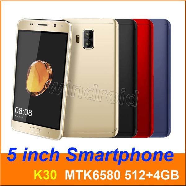 "Mini s9 K30 5"" Quad Core Smart phone MTK6580 4GB Android 7.0 Dual SIM CAM 5MP 3G WCDMA Unlocked Mobile Gesture face unlock Edge panels 30pcs"