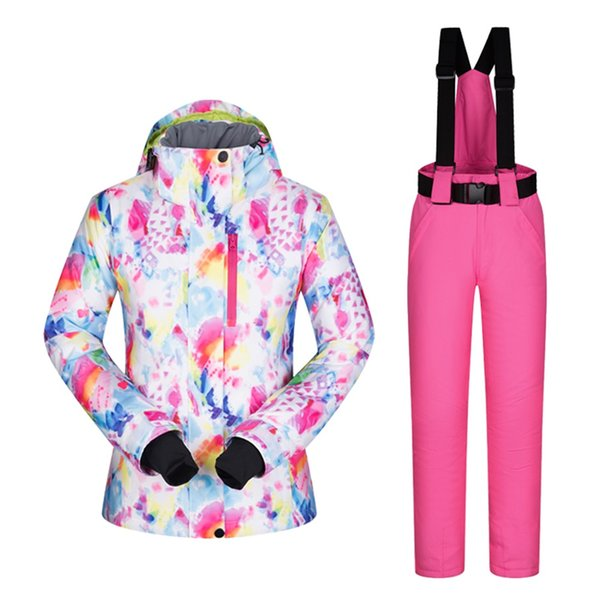 Keep Warm In Cold Weather Woman Ski Coat Snowboard Jacket Snow Suit Women Ski Gear Jacket Hooded Withstand Minus -30 Degrees