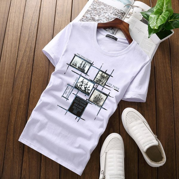 T-shirt da uomo all'ingrosso Taglie forti 5XL Tee Shirt Homme Estate manica corta da uomo T-Shirt da uomo TShirts Camiseta Tshirt Homme