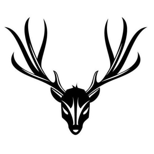 Deer Head And Corner Green Reaper Car Sticker Vinyl Car Bag Body Decal Decoration Quotes