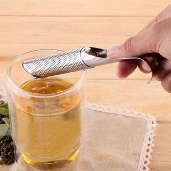 Tea Strainer Amazing Stainless Steel Tea Infuser Pipe Design Touch Feel Good Holder Tool Tea Spoon Infuser Filter