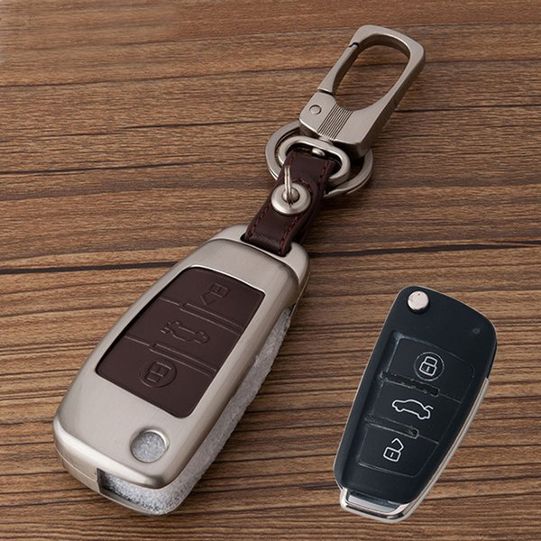 Car 3 Buttons Folding key case For Audi A1 A2 A3 A4 A5 A6 A7 TT Q3 Q5 Q7 R8 S6 S7 S8 SQ5 RS5 Zinc Alloy Keyfob key cover shell