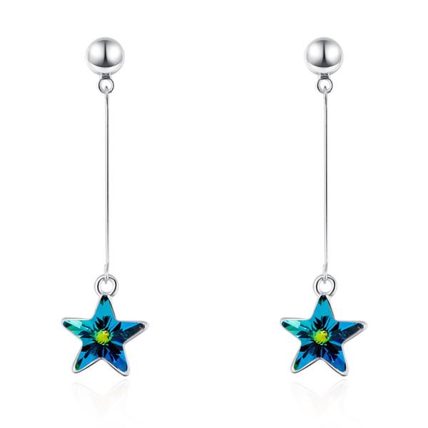 Star Pentagram pendant earrings dangler with Crystals from Swarovski Fashion jewelry for women girl mother gift 2018