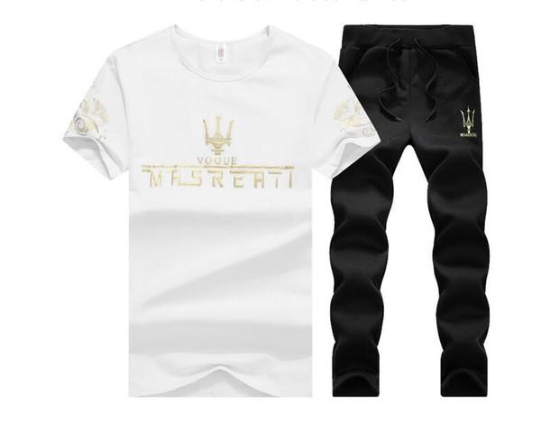 2018 New Summer Men Set 2PC Sporting Suit camiseta de manga corta + pantalones cortos Set de dos piezas Sweatsuit + Pants Quick Secado Chándal de hombres polo