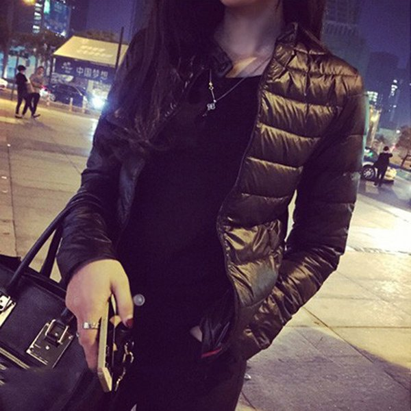 Female Down Coat Spring Winter Women Europe and America Thin Short Cultivating Outwear Cotton Padded Warm Jacket Outwear