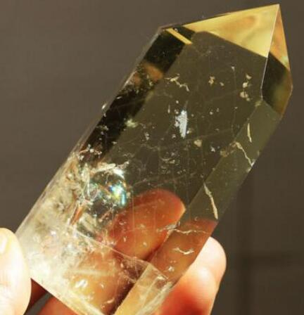Rainbow! Natural Citrine Crystal Rough Polished Point From China