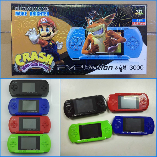 Game Player PVP 3000 (8 Bit) 2,5-Zoll-LCD-Bildschirm Handheld-Videospielkonsolen Mini Portable Game Box auch Verkauf PXP3