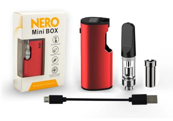 vape huile épaisse CE3 boîte mod vaporisateur mini nero boîte mod fonction de préchauffage mod boîte de démarrage kit avec des cartouches de pointe en céramique aucune fuite