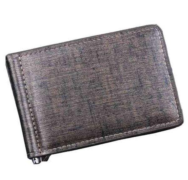 NUOVI uomini Bifold Business uomini portafoglio in pelle borsa di denaro clip di carta di credito organizzata tasche carte carteira masculina di marca