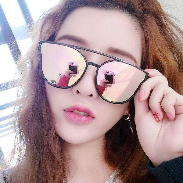 Glass eyes shades luxury Sunglasses UV 380 sunglasses for Women Vintage metal Sport Cute Colorful Sun glasses