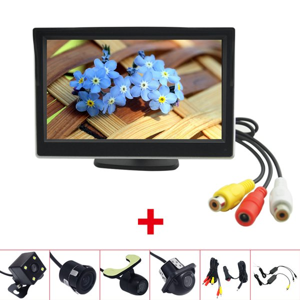 """Car 5""""LCD TFT Stand-alone Monitor With Rear View Backup Camera RCA Video Rearview System 2.4G Wireless & Cigarette Lighter Optional #2683"""