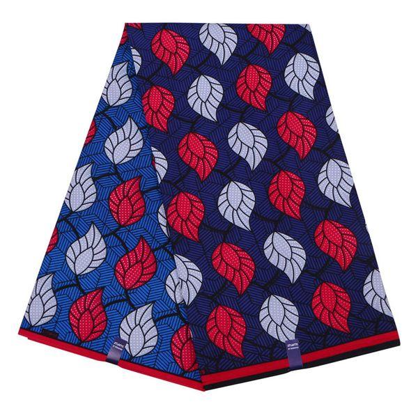 6 yards prints ankara fabric African polyester wax fabric hot sale hollandais wax fabric for garment WD-86