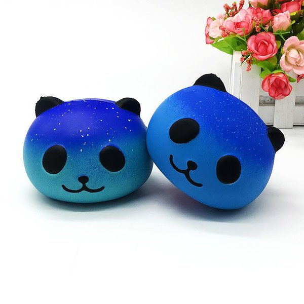 2018 cross-border oferta especial de simulação lenta rebote estrela panda cabeça simulação cabeça de gato artesanato lento rebote squishy brinquedo