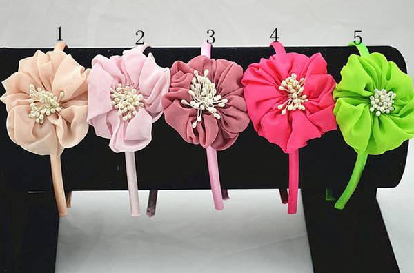 15pcs bear Hairbands crown gauze hair accessories for the beautiful girl Princess cartoon arches of hoop bands headband FG034