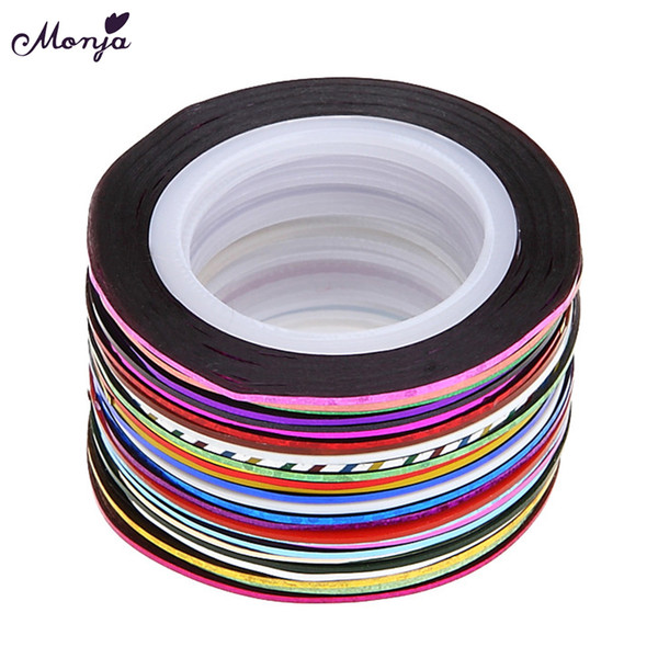 Nail Art Rolls Gold Silver Wire Striping Tape Line 3D DIY Nail Stickers for Manicure Decals