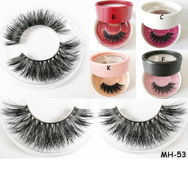 mink hair eyelashes fake eyelashes sexy eyelash sexy eyelashes glitter paper round eyelash box add logo false 3D mink eyelash
