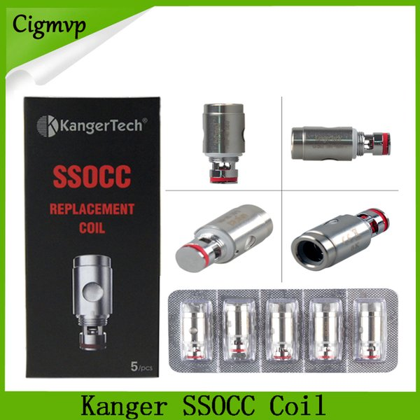 Головка форсунки Kanger SSOCC 0.5ohm 1.2ohm Ni200 0.15ohm Fit Subox Mini Subvod Starter Kit Toptank DHL Бесплатно 0266054-1