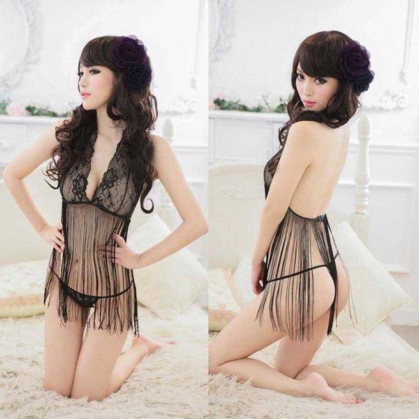 best selling Hot Sexy Lingerie Lace Dress Babydoll Women's Summer Underwear Nightwear Sleepwear Chemises Night Wear Femme Dress drop shipping