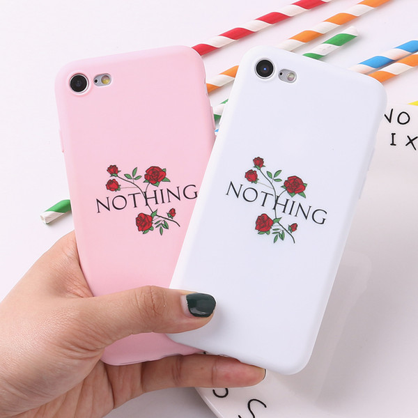 Nothing Rose Kiss Puppy Cat Soft TPU Silicone Frosted Matte Case Fundas Coque Cover For iPhone 6 6S 5 5S SE 8 8Plus X 7 7Plus