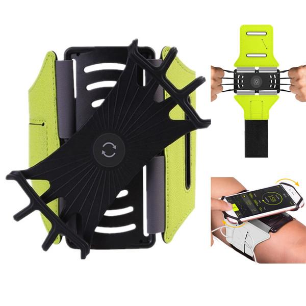 Braccialetti girevoli da 180 gradi per bracciali girevoli con braccioli per smartphone da 4 a 6 pollici