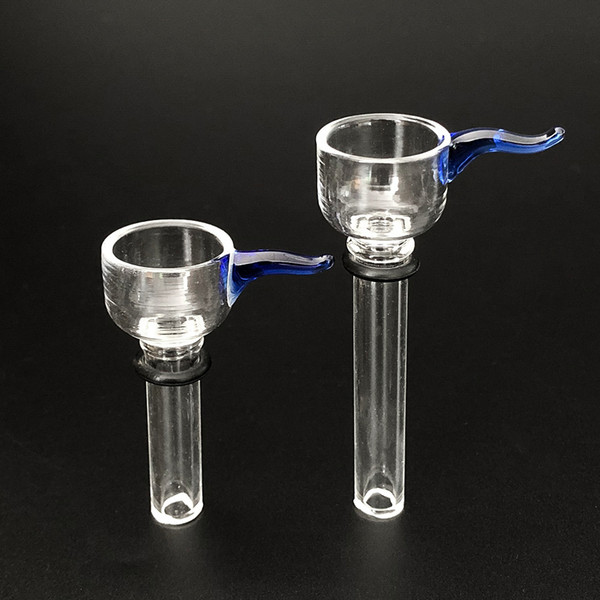Glass Male Slides and Female Stem Wine Cup style with black rubber simple downstem for water glass bong glass pipes free shipping