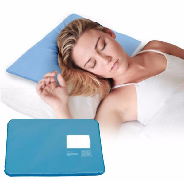 Sollievo dal muscolo estate Ice Pad Massager terapia Sleeping Aid Insert Chillow Pad Mat Cooling Gel Pillow no box
